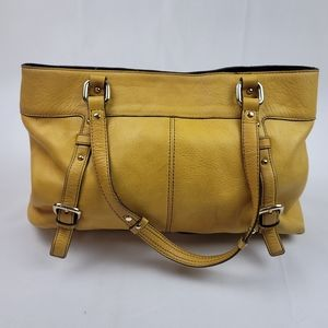 Genuine Leather Yellow Etienne Aigner bag